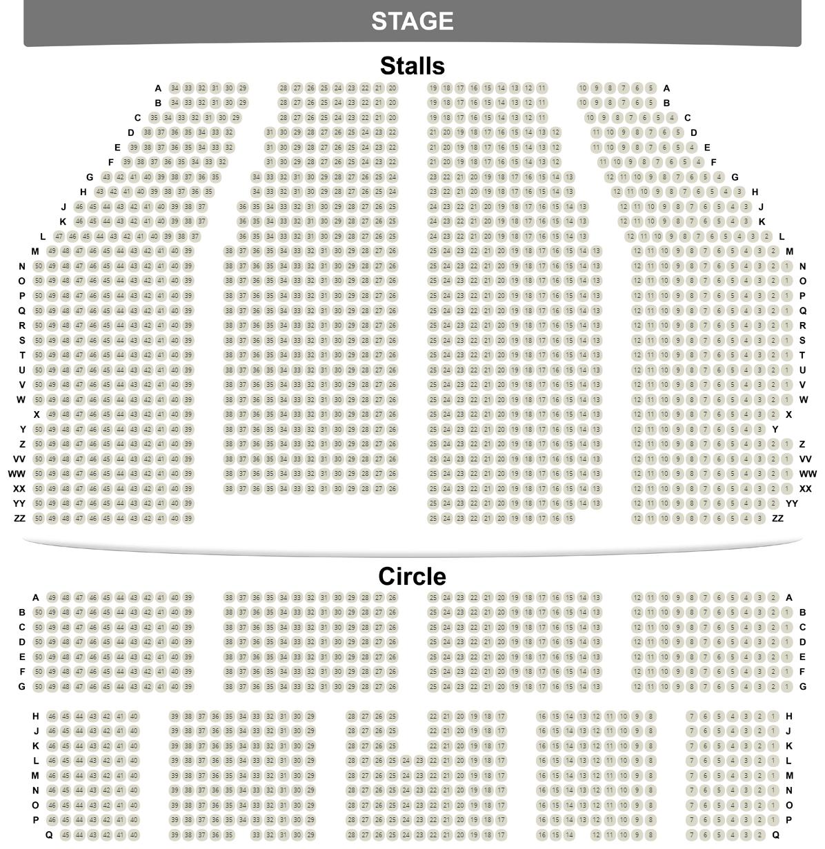 Dominion Theatre seating plan